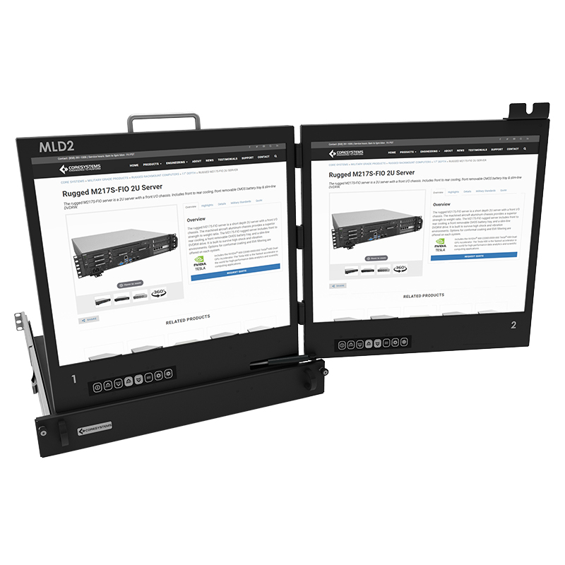 2U Rackmount LCD Displays Core Systems