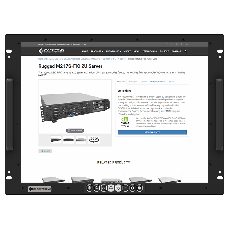 Rugged MP20 – 20″ Rack LCD