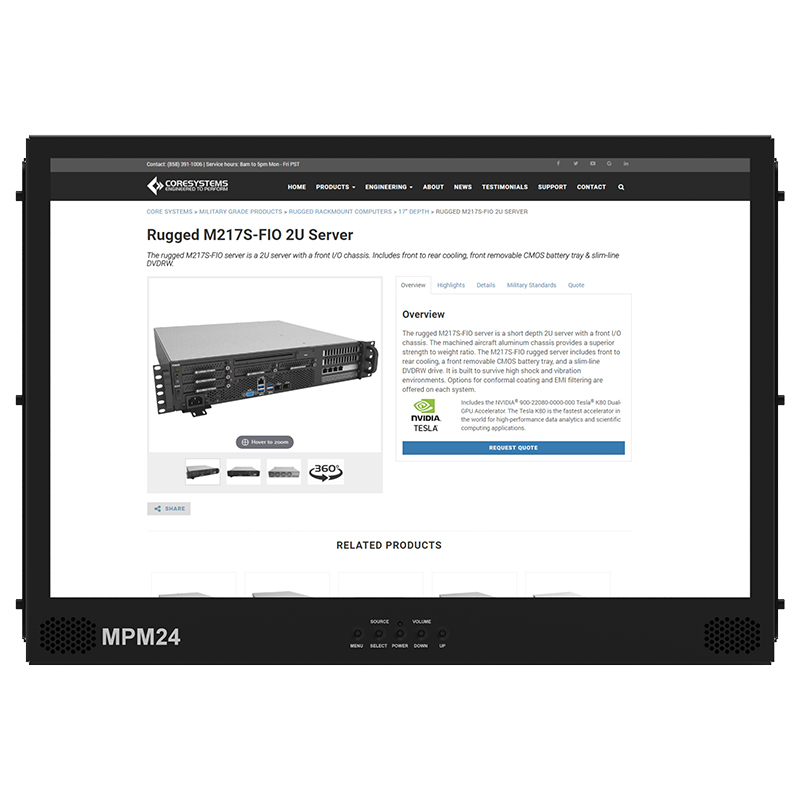 Rugged MPM24 – 24″ Vesa Mount LCD
