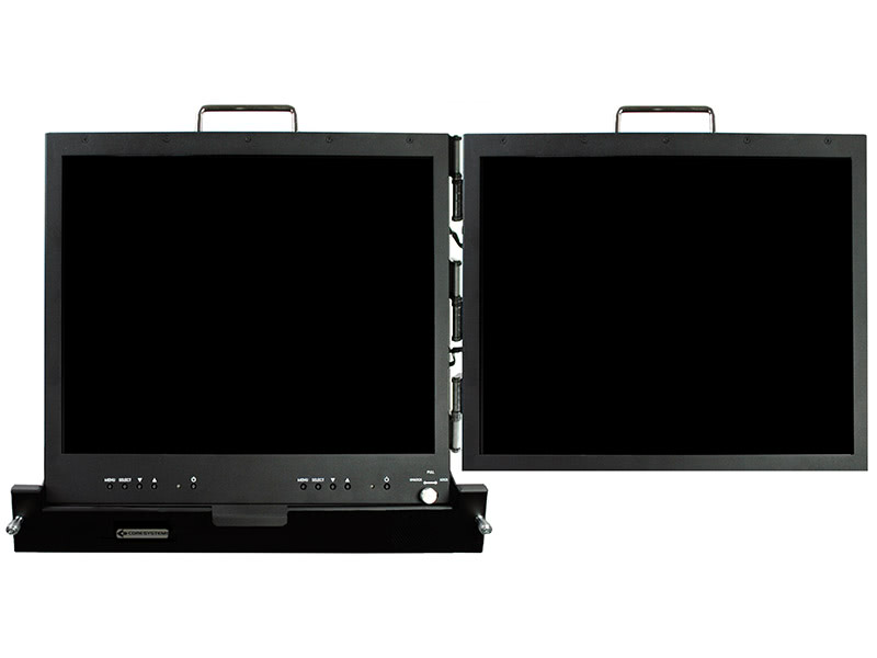 Core Systems Releases New 2U Rackmount Dual 19″ LCD Display MLD1920-RDS